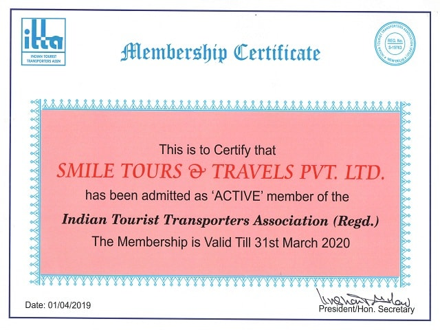 itta 2020 Membership - Smile Travels