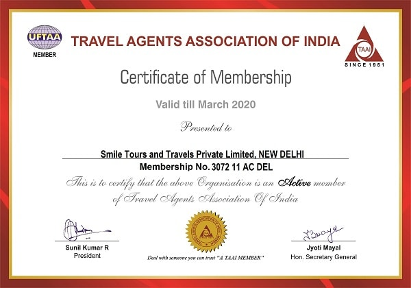 TAAI 2020 Certificate of Membership