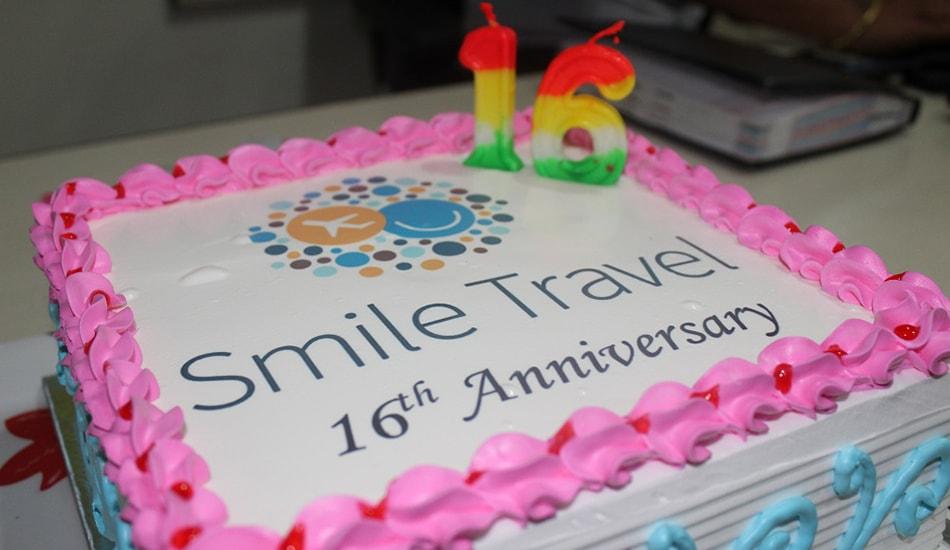 Smile Travels 16th Anniversary Cake