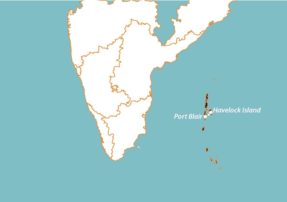 andaman honeymoon packages map