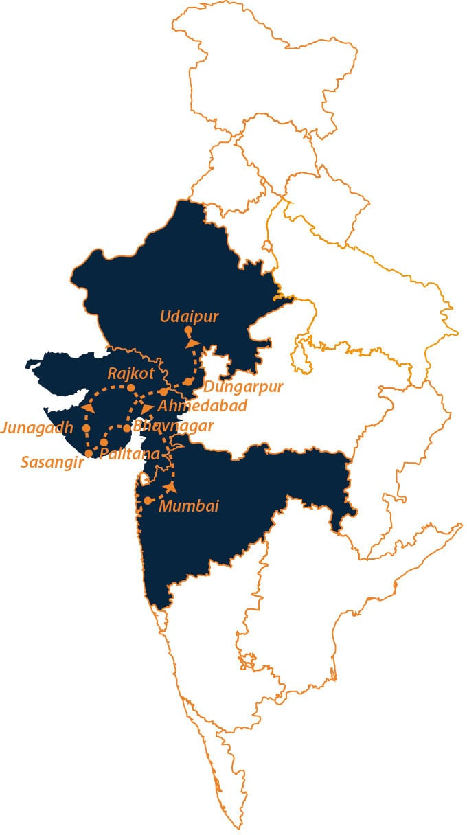 Gujarat package for couples Map