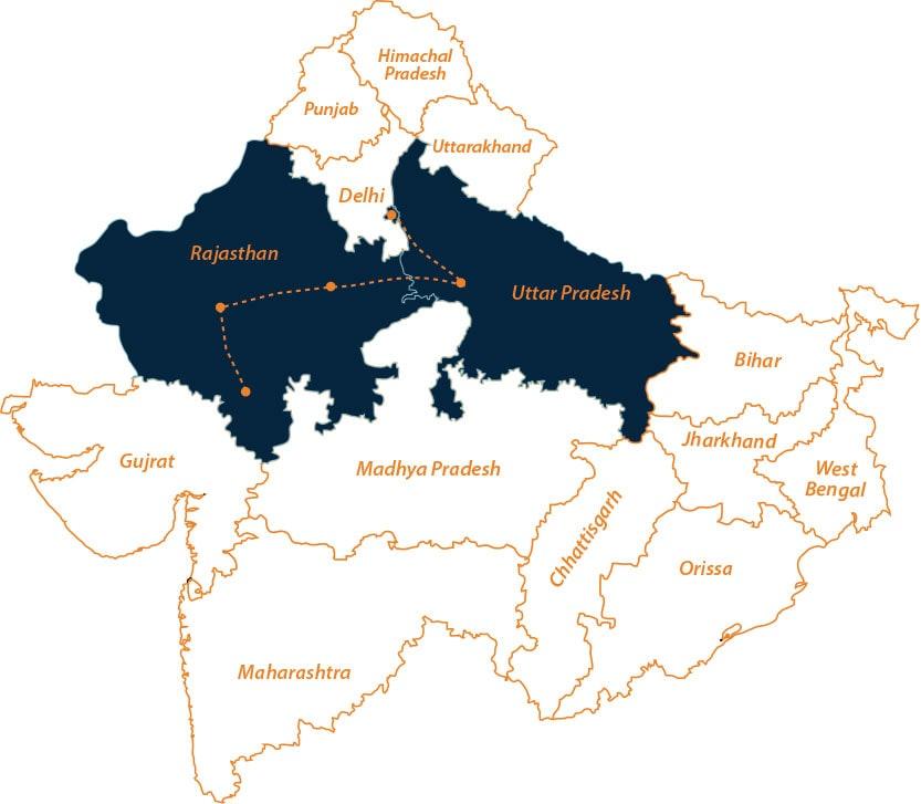 Rajasthan Wildlife Tour Map